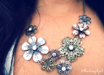 Floral Metal Chain