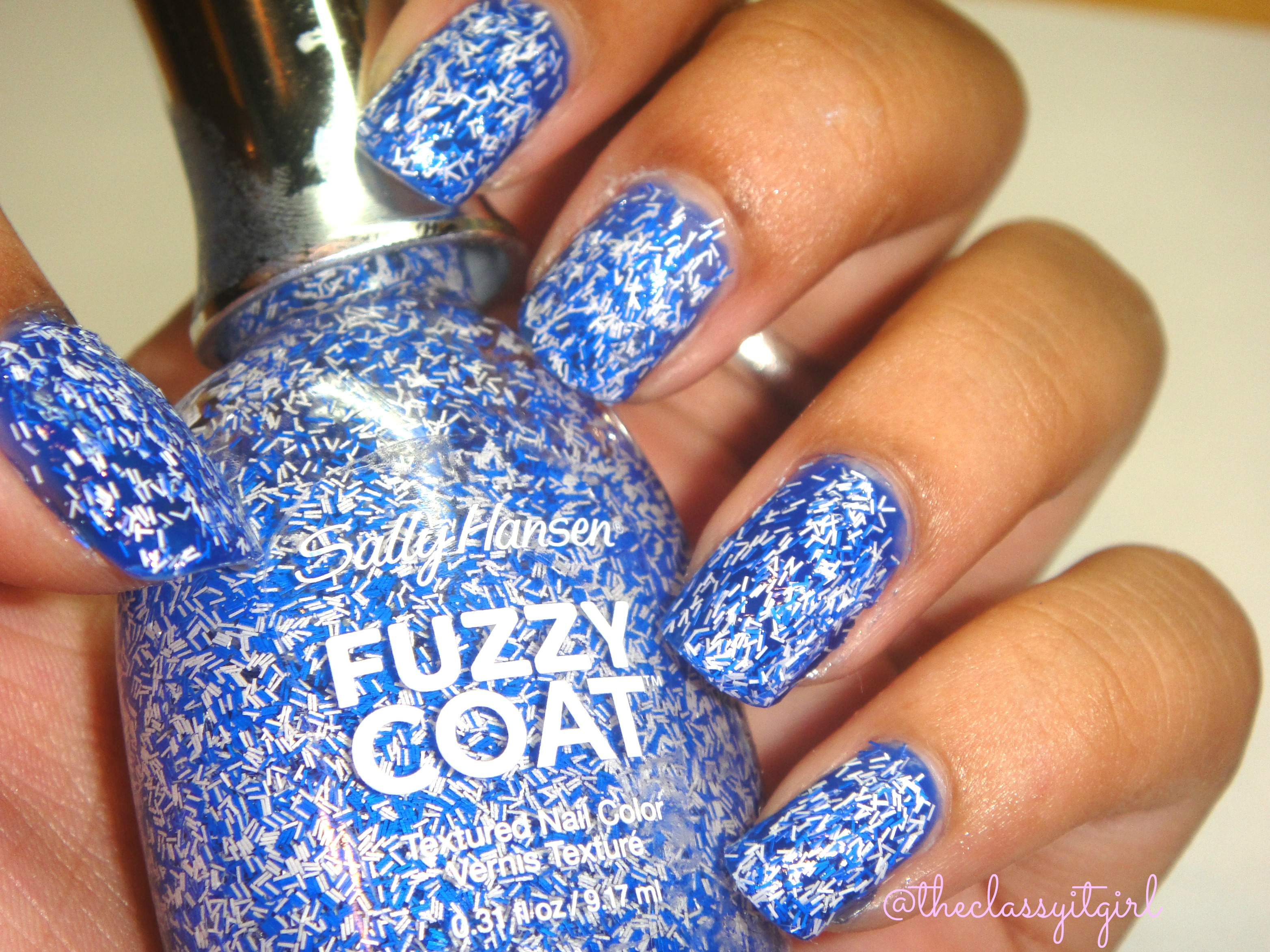 Sally Hansen Fuzzy Coat Nail Polish Review & Demo! | The Classy It Girl