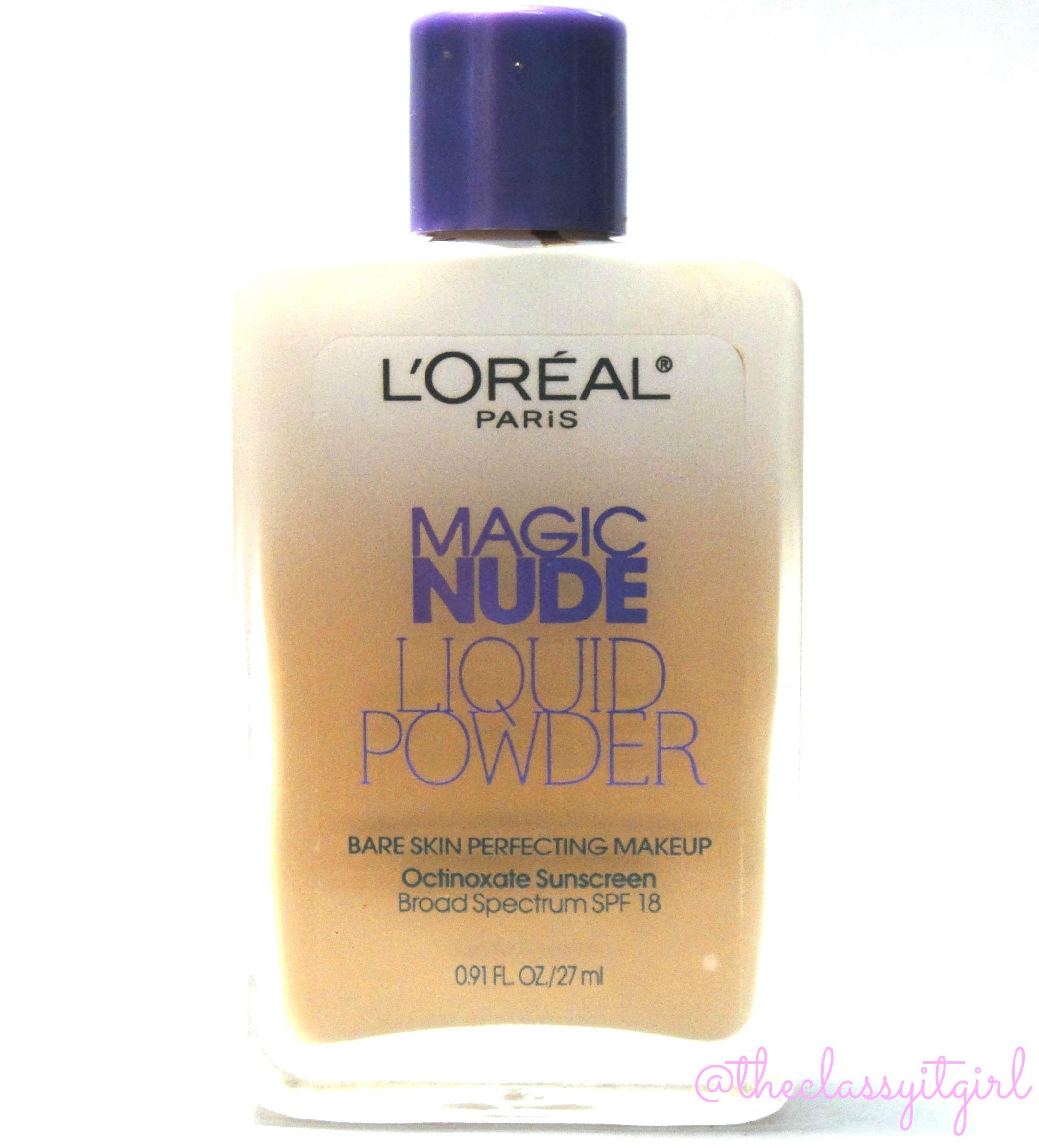 LOreal Magic Nude Liquid Powder Foundation Swatches