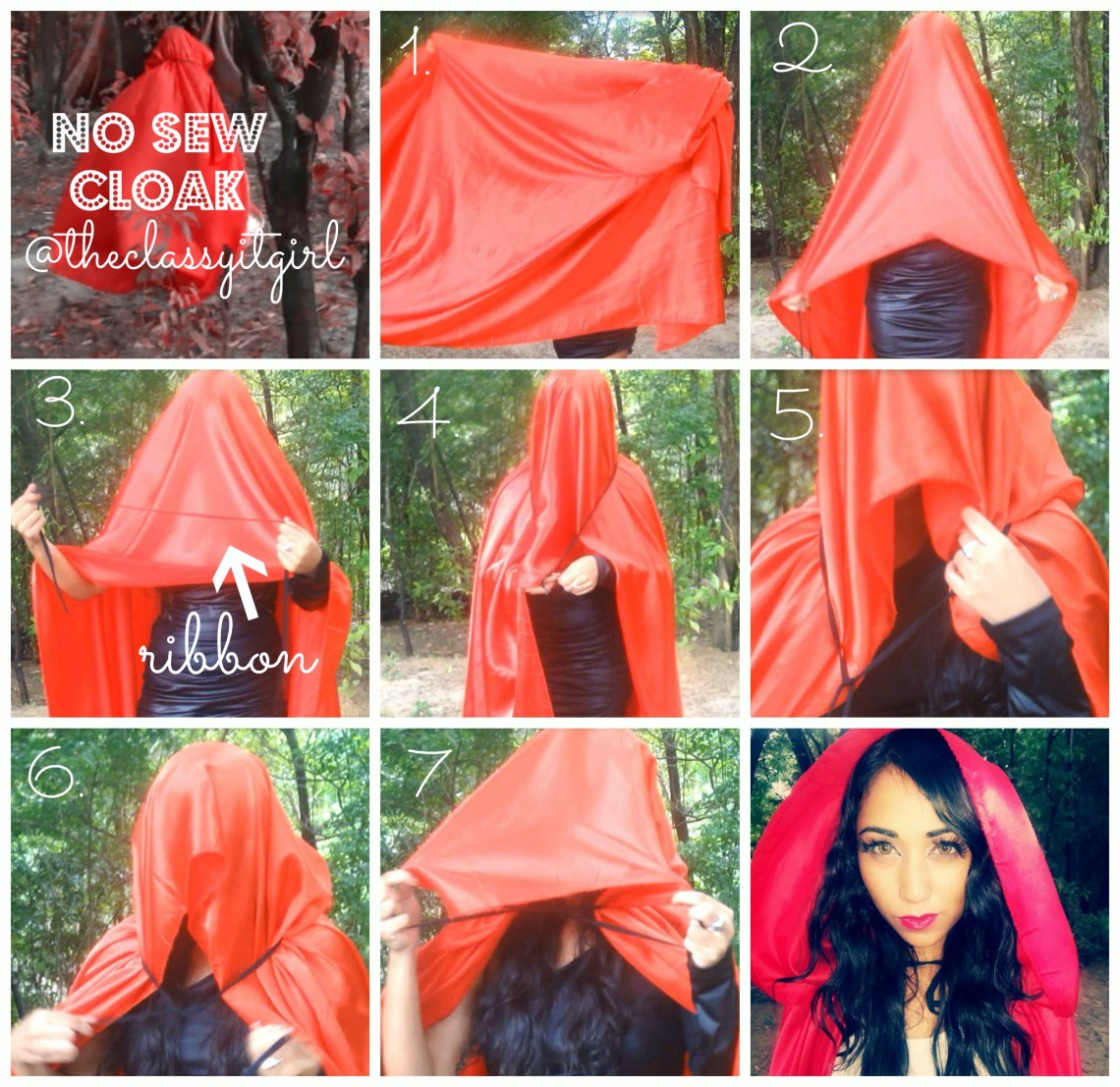 Image Result For How To Make A Cape With A Hood Without Sewing