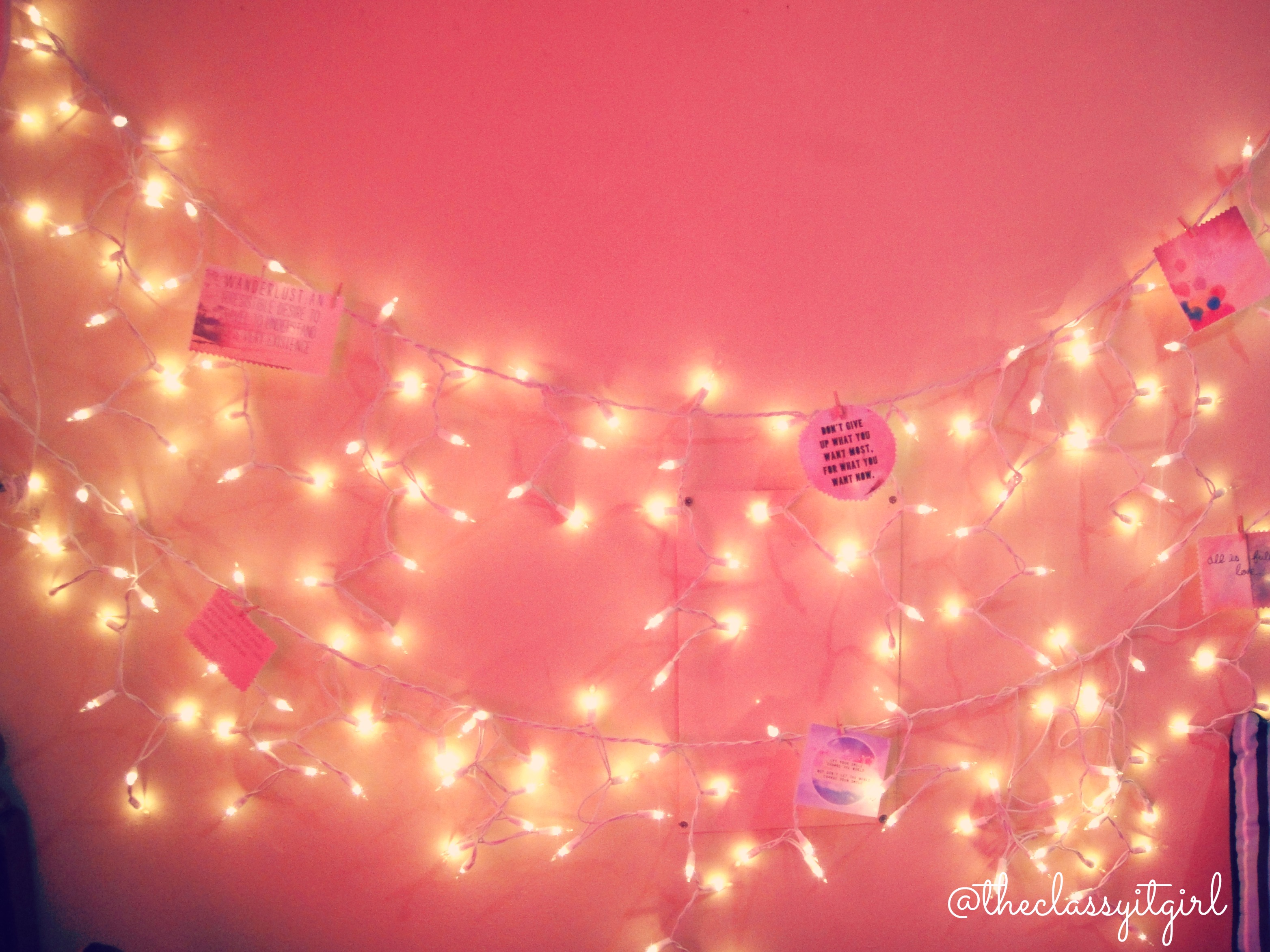 Dormspiration diy room d cor the classy it girl for Lights for your room