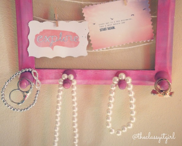 Picture Frame Jewellery Display