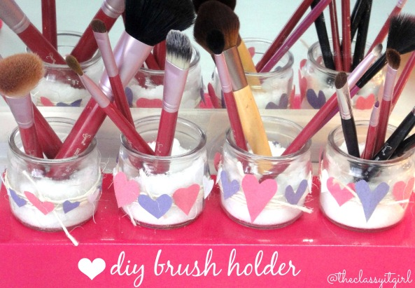 Valentine's Day Brush Holder