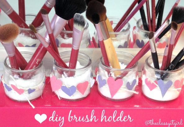 Valentine's Day Brush Holder