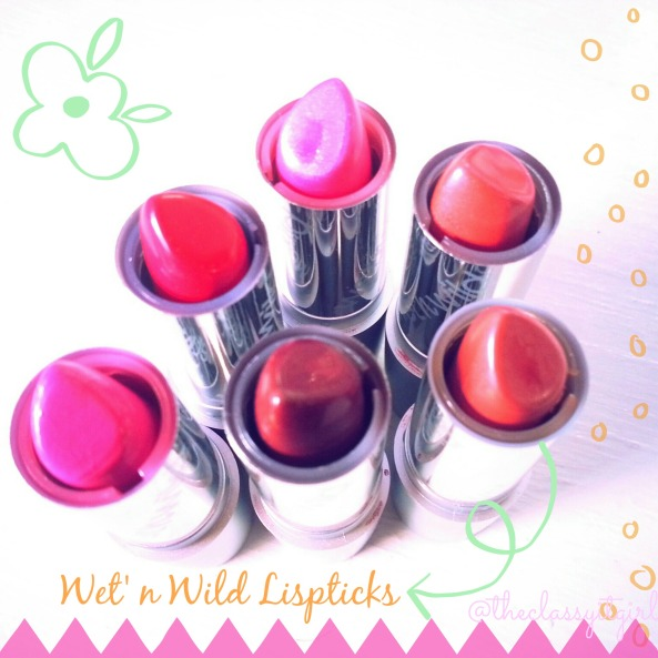 Wet'n Wild Lipsticks