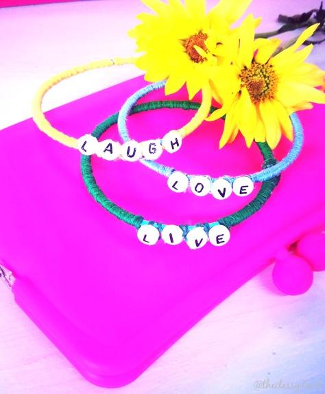 Word Wrapped Bracelets