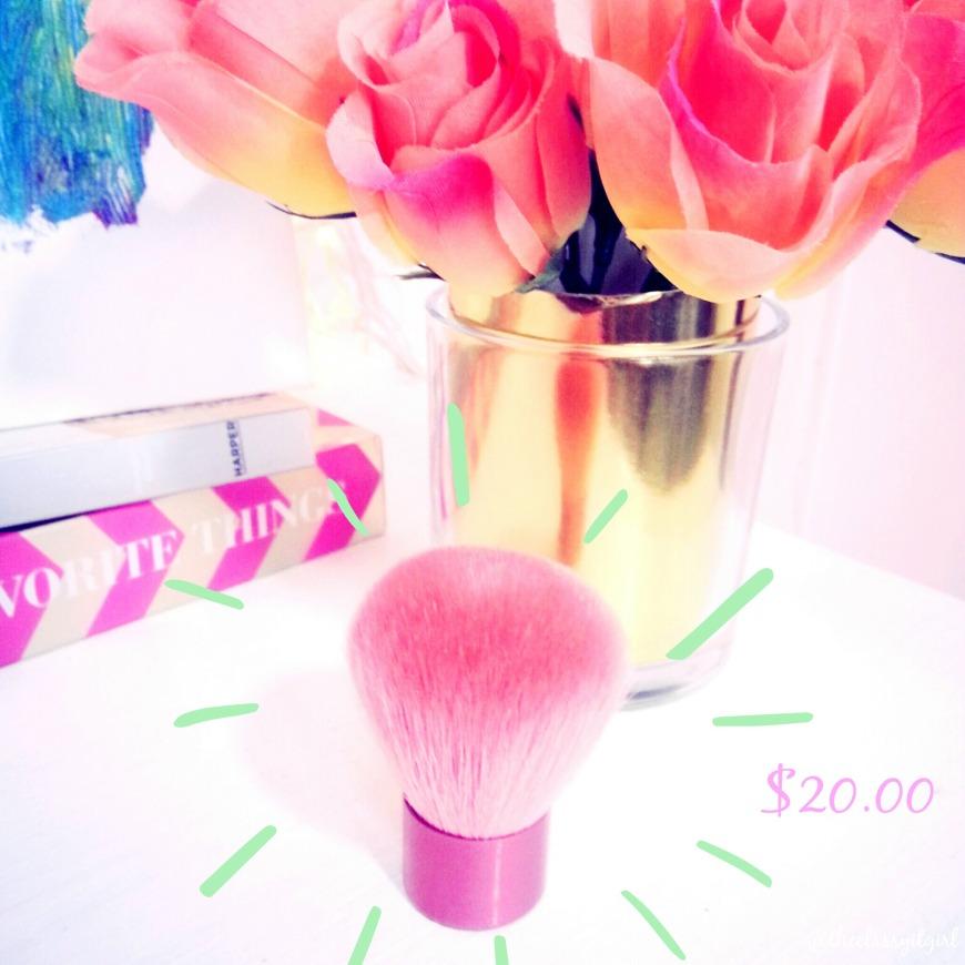 Ferro Cosmetics Pink Fabuki Brush