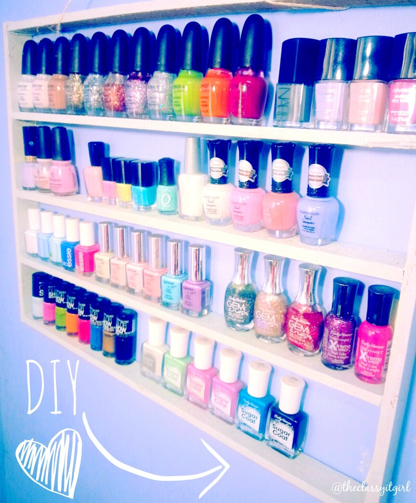 Make this easy nail polish rack!