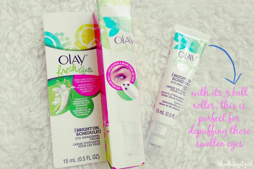 Olay Fresh Effects {Bright on Schedule} Eye Awakening Cream