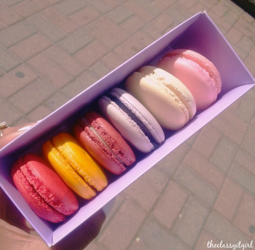 I couldn't resist taking back a box of these darling macaroons- one of my many guilty pleasures.