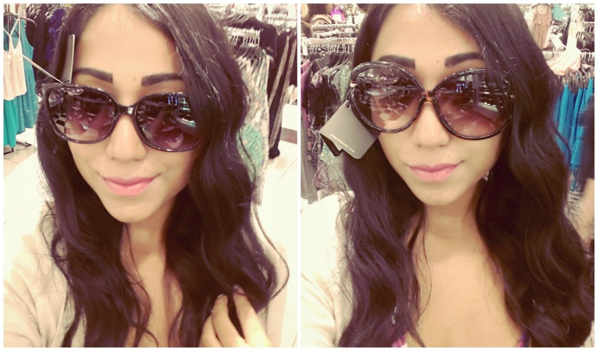 Did you know that the best way to shop for sunnies is by trying them on and taking selfies? [F21]