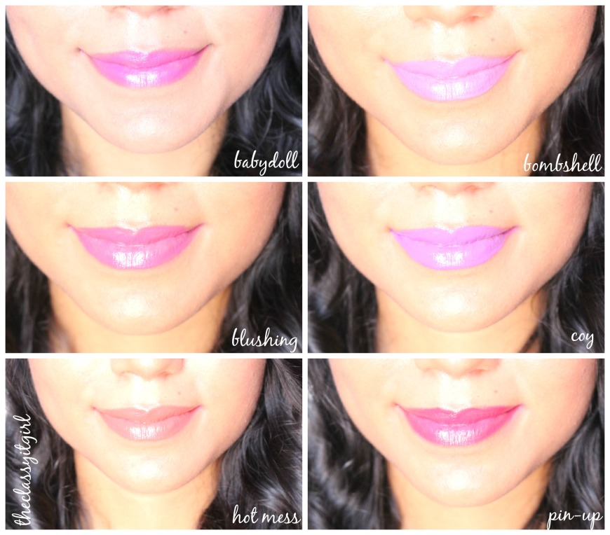 Lip Paint Swatches
