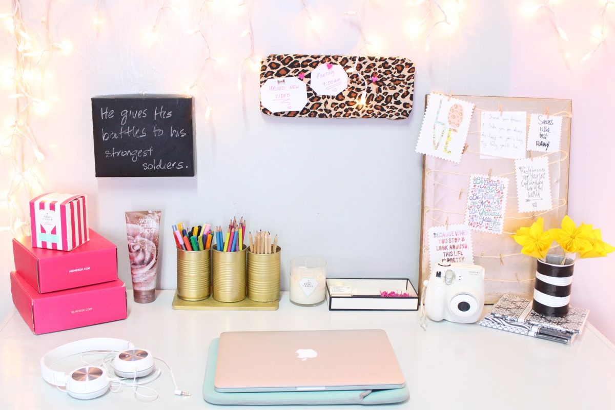 DIY Desk Decor | Easy & Inexpensive | The Classy It Girl
