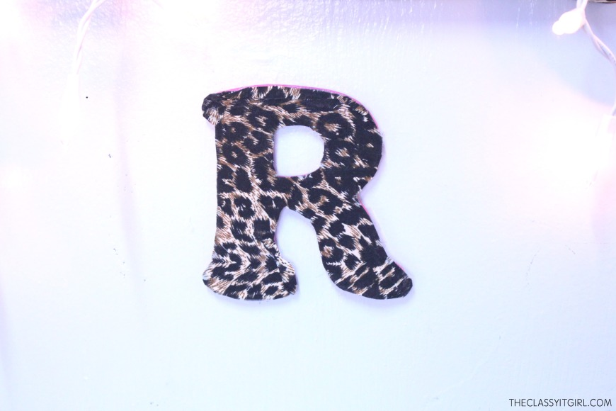 Fabric covered monogram letter