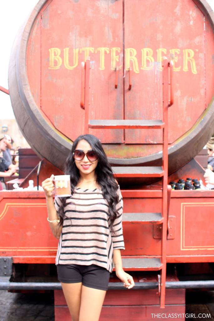 How could I not try out the famous Butterbeer!