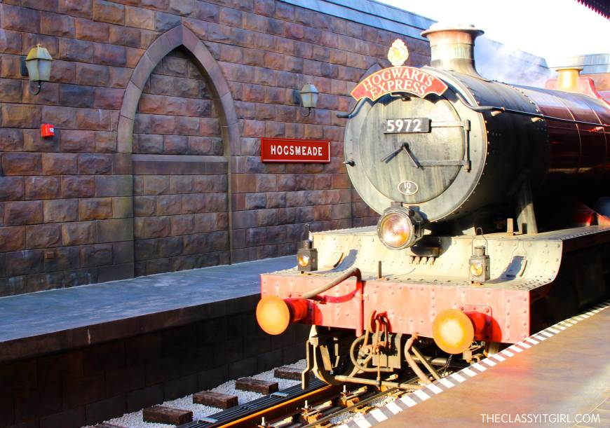 Seeing the Hogwarts Express coming was such a magical moment