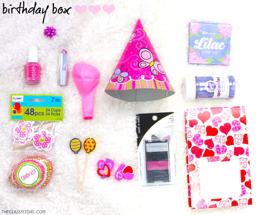 Ideas for your birthday box!