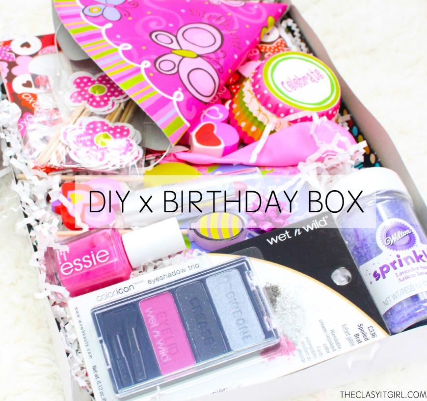 DIY Birthday Box / Birthday Care Package